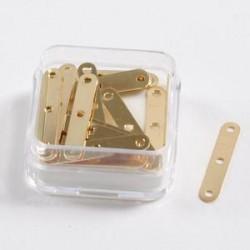 Distančniki 20x3mm 3 luknje set 20, zlate b.