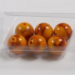 Marmorirne p. svetleče okrogle 18mm,Oranžne, 6kos