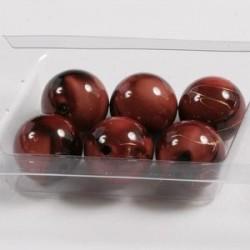 Marmorirne p. svetleče okrogle 18mm, Rjave, 6kos