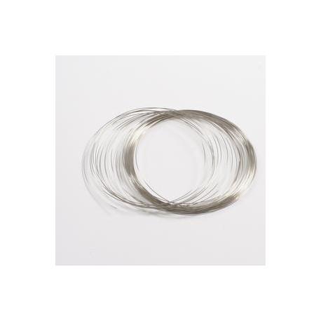 Spominska žica za ogrlico 0,65mm x 2cm, 30g.