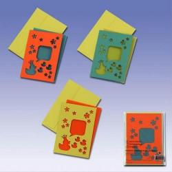 Voščilnice+kuverte+paus p. Račke set 3