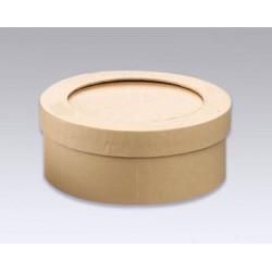 Šatulja s paspartujem okrogla Š. 9,5 x V. 4cm izrez 8,8cm