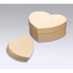 Kartonska šatulji srce 12 x 11,5 x 5,5 cm/10 x 9 x 4 cm