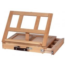 Namizno stojalo z leseno škatlo