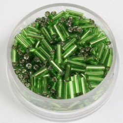 Palčke 6mm sr. sredica zelene 17g.