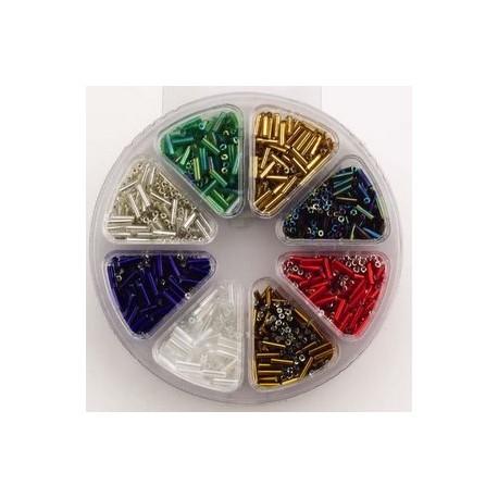 Komplet steklenih palčk, 6mm, 8 različnih barv