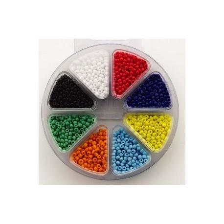 Komplet perl, 3mm, 8 različnih barv