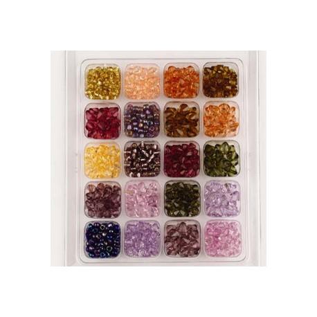 Komplet akrilnih in steklenih perl 20 vrst