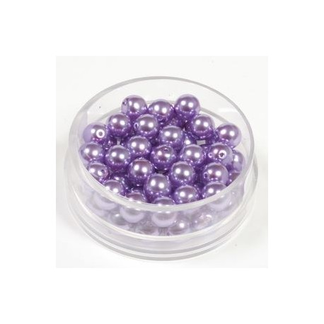 Voščene steklene perle 4mm,vijola, 100kos