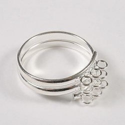 Nastavek za prstan, 9 osi, 1 kos Platinaste b.