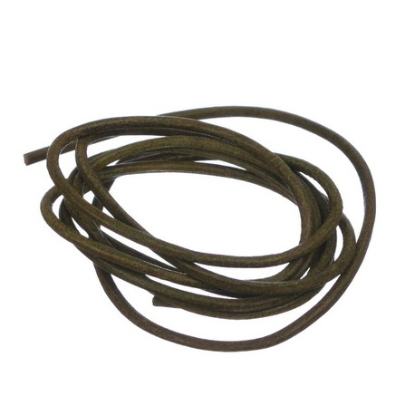 Usnjena vrvica 2mm, Kaki, 1Meter