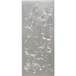 Konturna nalepka srebrna Metuljčki POVEČAJ