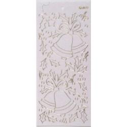 Konturna nalepka transparentna z bleščicami Zvončki