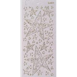 Konturna nalepka transparentna z bleščicami Zvezde