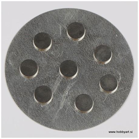 Magnetki zelo močni 10mm x 2mm, 8 kosov