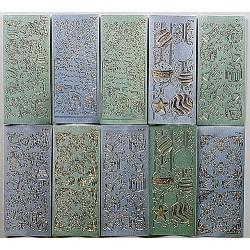 Komplet 10 Božičnih nalepk Perla modre/zelene