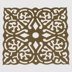 Kovinska šablona Sandy art Kvadratni ornament 6,5cm