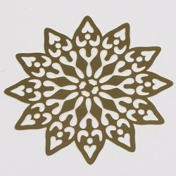 Kovinska šablona Sandy art Ornamentna roža 7cm