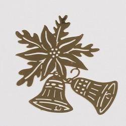 Kovinska šablona Sandy art Zvončki z rožo 5cm