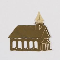 Kovinska šablona Sandy art Cerkev 5cm
