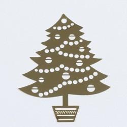 Kovinska šablona Sandy art Božično drevo 7 x 5cm