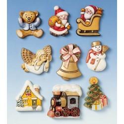 Kalup Božični motivi cca 5cm, 9 motivov