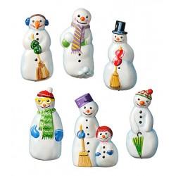 Kalup Snežaki 7 x 4cm, 6 motivov