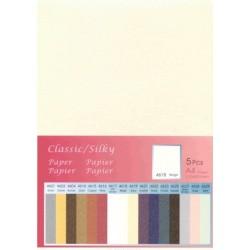 Papir svilen lesk Bež 250g. 210 x 297mm A4, 5 kosov