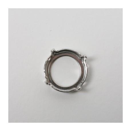 Nastavek z luknjicam za Swarovski Rivoli kristale 10mm, 1 kos
