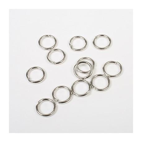 Obroček za nakit premer 10mm debelina 1,5mm, Platinaste b. 12 k