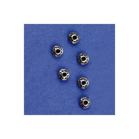 kovinske perle cca 9mm, srebrne b., 6kos