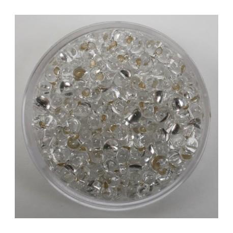 Steklene perle Metuljčki 6,5mm, Sr.sredica Kristalne17g.