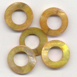 Biserna matica krog 23mm, Rjava, 5 kos