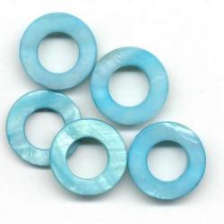Biserna matica krog 23mm, Modra, 5 kos
