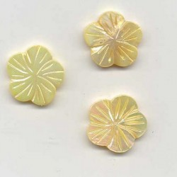 Biserna matica Roža 18mm, Zlata, 3 kosi