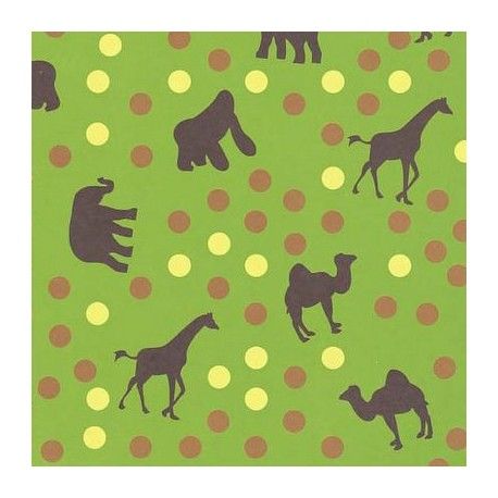 Scrapbook papir 305 x 305mm, Živali, 120g. 5 kosov