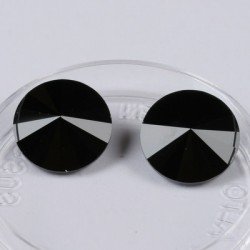 Swarovski Rivoli kristali, 14mm, Črne Yet , 2 kosa