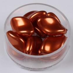 Voščene steklene zvite 19 x 13mm, T. Oranžna, 10 kosov