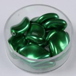 Voščene steklene zvite 19 x 13mm, T. Zelena, 10 kosov