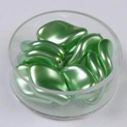 Voščene steklene zvite 19 x 13mm, Sv. Zelena, 10 kosov