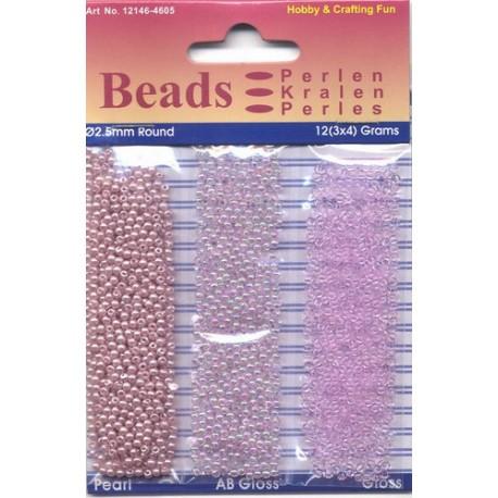 Akrilne perle 2,5mm set 3 x 4g. Lila