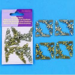 Dodatki za Scrapbook, Kotki 30 x 30mm, 8 kosov