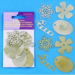 Dodatki za Scrapbook, Snežinke Roža cca 40mm, 8 kosov