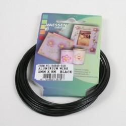 Aluminijasta žica 2mm x 5m, Črna