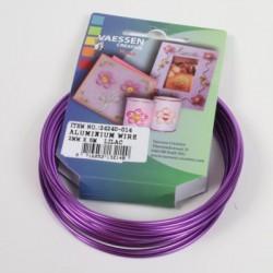 Aluminijasta žica 2mm x 5m, Lila