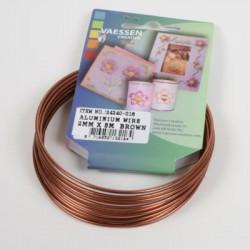 Aluminijasta žica 2mm x 5m, Rjava