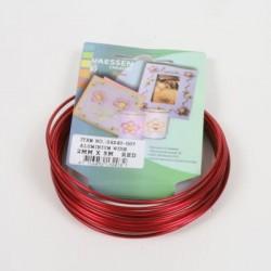 Aluminijasta žica 2mm x 5m, Rdeča