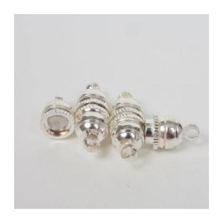 Magnetni zaključki, 10mm set 3, srebrne b.