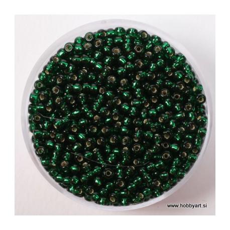 Miyuki perle 2,2mm, Sr. sredica Smaragdna 12g.