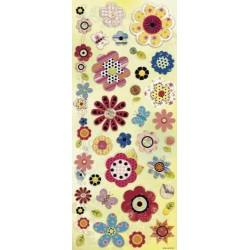 Barvne nalepke 12 x 31,5cm, Rože